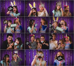 photobooth style birthday party event photograph compilation