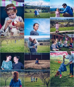 compliation of photographs from zara's fifth birthday celebrations at the yarra valley chocolataire