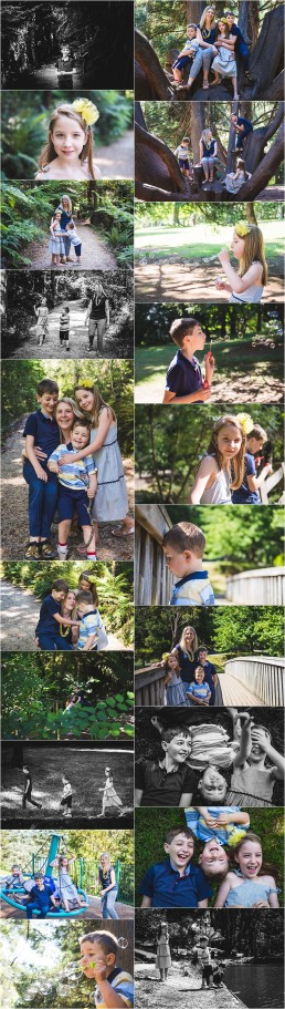 set of photographs from the Barfett Family outdoor lifestyle family session