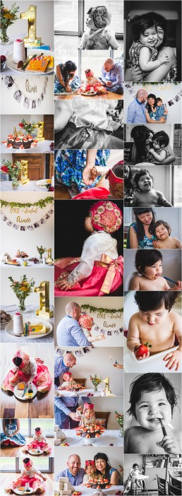 compilation of photographs for blogpost from Aimee's 1st birthday party