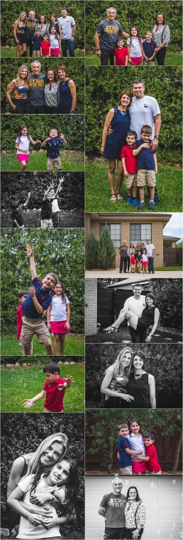 set of photographs from the Vaz Family Session