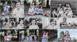 set of photographs from a family at the seedling fundraising photography session