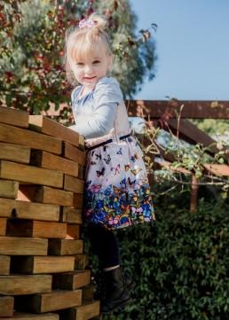 kindergarten girl climbing