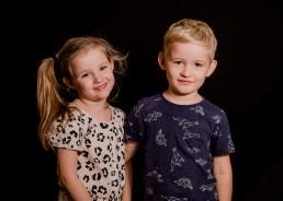 kindergarten twins portrait