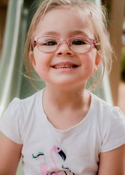kindergarten girl on a slide