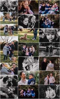 set of photographs from the Varley extended family session