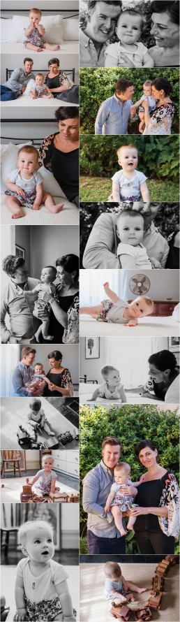 set of images from family session with 6 month old baby